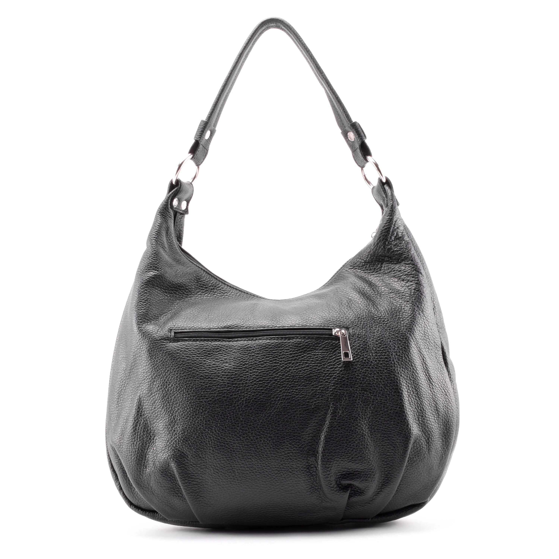 24b6cf95c289 Egyszerű, letisztult női bőr táska a mindennapokra. Belsejében két nagy  cipzáros és két nyitott zseb található.